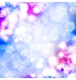 Bokeh lights background with snowflakes vector image vector image