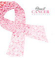 breast cancer care card of pink ribbon icon shape vector image vector image