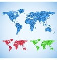 business world map set vector image vector image