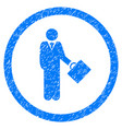 businessman rounded grainy icon vector image vector image