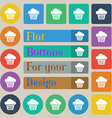 cake icon sign Set of twenty colored flat round vector image