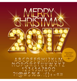 Chic light up Merry Christmas 2017 greeting card vector image vector image