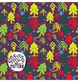 Color christmas trees on violet background vector image