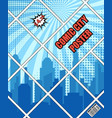 comic city blue poster vector image vector image