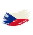 czech flag grunge brush background vector image vector image