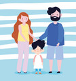 family mother father and son together member vector image