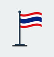 flag of thailandflag stand vector image