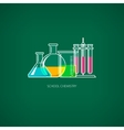 Flasks and BeakersChemical Laboratory Equipment vector image vector image