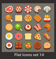 flat icon-set 14 vector image vector image