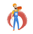 foreman or worker for building construction vector image vector image