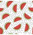 fresh slaced ripe watermelon vector image vector image