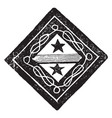 funeral achievement image shows the hatchment of vector image vector image