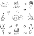 Funny doodle art birthday vector image