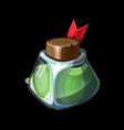 game icon with magic bottle vector image
