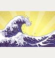 great orient japan ocean wave art vector image vector image