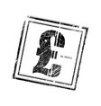 grunge rubber stamp with uk pound symbol vector image vector image