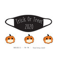 halloween 2020 coronavirus trick or treat party vector image vector image