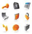 Icons for banking vector image
