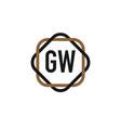 initial letter gw elegance logo design template vector image vector image