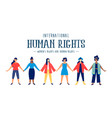 international human rights card of diverse women vector image vector image