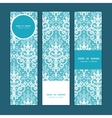 light blue swirls damask vertical banners vector image vector image