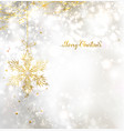 light christmas background with snowflake vector image