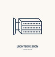 lightbox signboard flat line icon outdoor vector image vector image