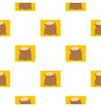 linen sack full of flour pattern flat vector image vector image