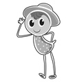 Little kid wearing a hat vector image vector image