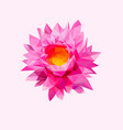 low poly pink lotus flower logo design realistic vector image