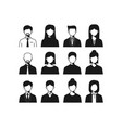 male female business people icon vector image vector image