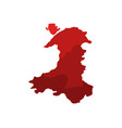 map of wales with regions vector image vector image