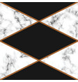 marble texture design with golden geometric lines vector image vector image