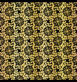 metallic black on gold floral grid pattern vector image