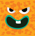 monster character face vector image