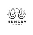 octopus seafood logo inspirations vector image