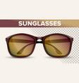 oversized wayfarer sunglasses trendy 3d vector image vector image