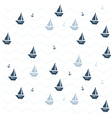 pattern with ships vector image vector image