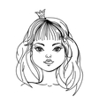princess on a white background vector image vector image