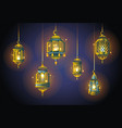 ramadan lights - realistic set of objects vector image vector image