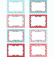 Red and Aqua Printable Labels Set Tags Invitation vector image vector image