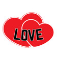 red hearts on a white background vector image vector image