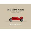 Retro sport racing car vintage collection vector image vector image