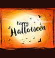 scary halloween background with bat spider and vector image vector image