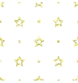 Seamless pattern with tinsels stars and polka dot vector image vector image