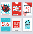 Set media banners with discount offer Shopping vector image vector image