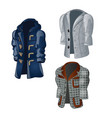 set of animated vintage mens coats isolated on a vector image vector image