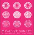 Set of Sunburst Rays of Sun vector image