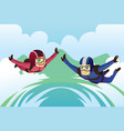 skydiving vector image vector image