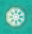 Snowflake winter symbol